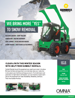 Sunbelt Rentals Snow Removal Equipment