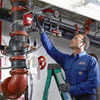 Man Checking Fire Sprinkler System