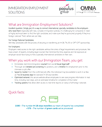 Populus Group Immigrant Employment Solutions Flyer