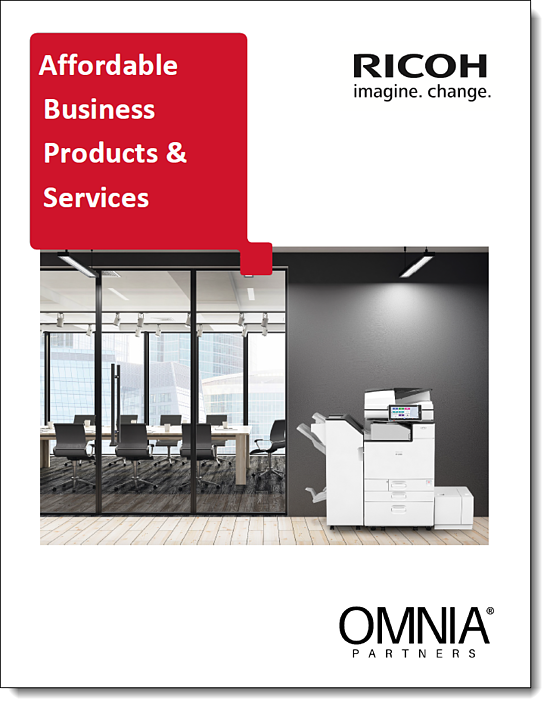 Ricoh & OMNIA Partners Co-Branded Flyer