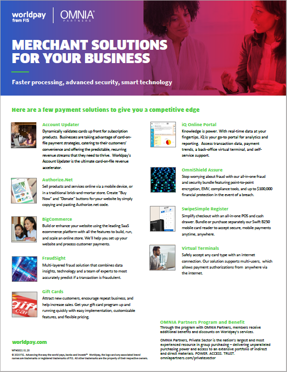 Merchant Solutions for Your Business PDF