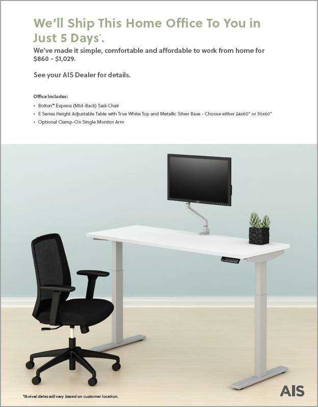 Affordable Interior Systems, INC will ship you this home office to you in just 5 days