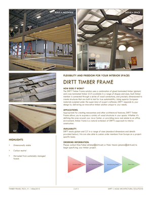 DIRTT Timber Frame PDF
