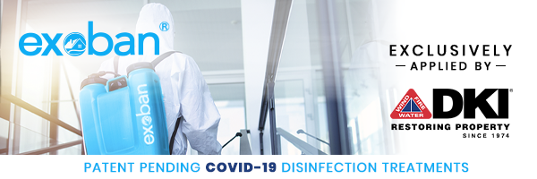 Exoban is a patent-pending COVID-19 disinfection treatment for building interiors