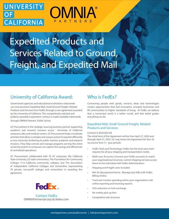fedex omnia partners uc contract flyer