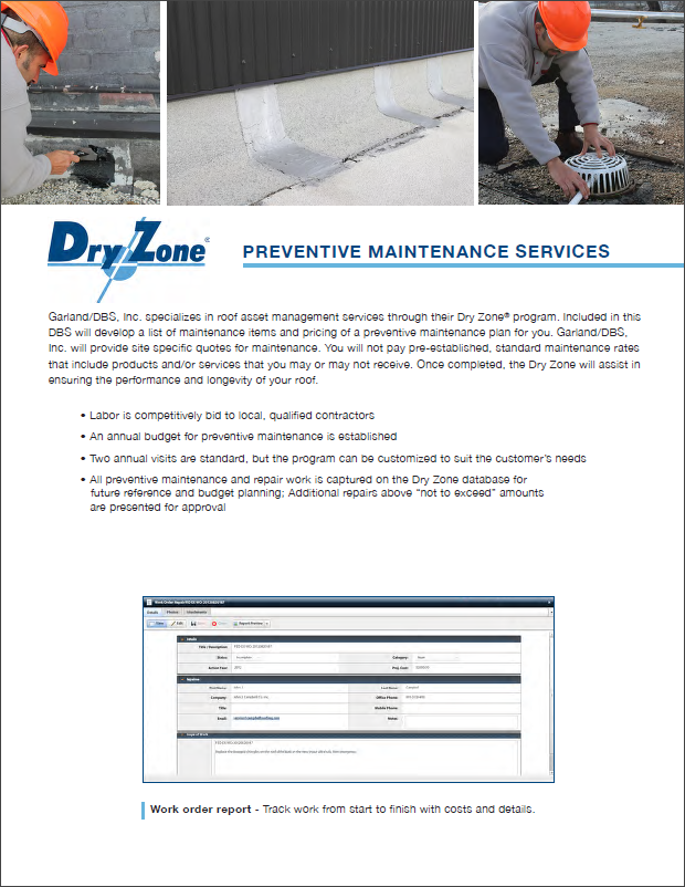 Dry Zone - Preventative Maintenance