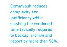 Commvault Benefits