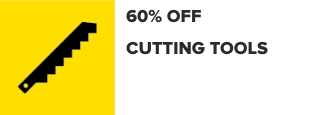 33% Off Cutting Tools and Abrasives