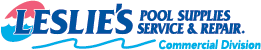 Leslie's Pool Supplies Service & Repair. Commercial Division Logo