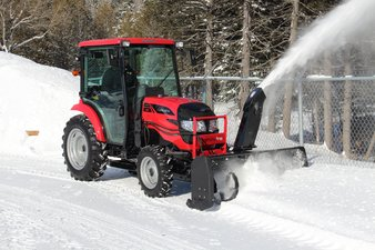 Mahindra Tractor in snow