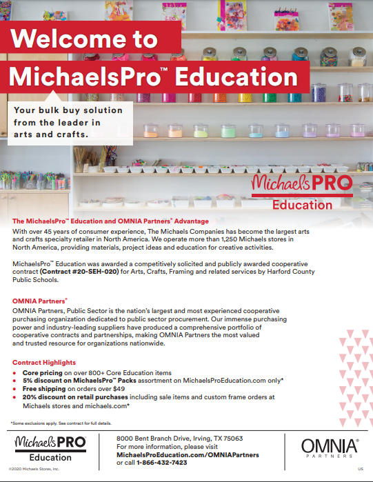 Michaels Pro Education Flyer