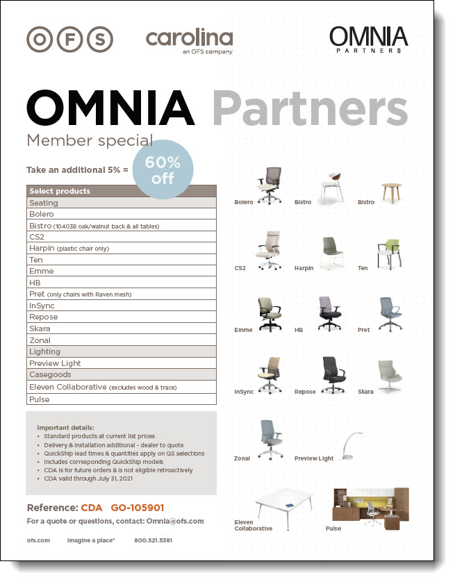 OFS & OMNIA Partners Summer Promotion Flyer