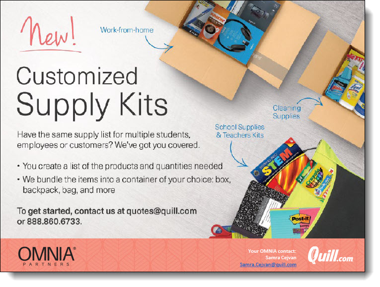 Customized Supply Kits with Quill & OMNIA Partners