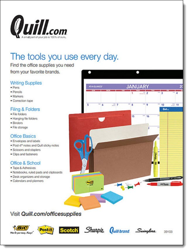 Quill Office Supplies Flyer