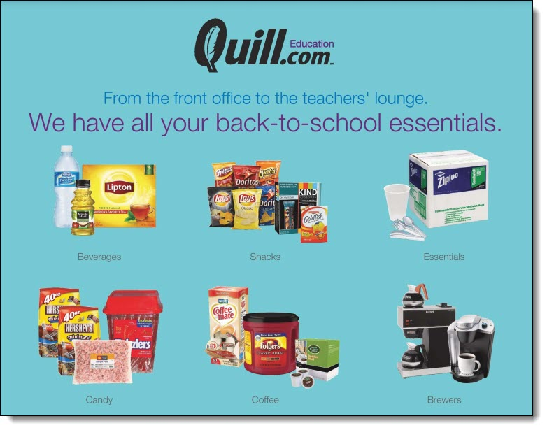 Quill School Essentials Flyer