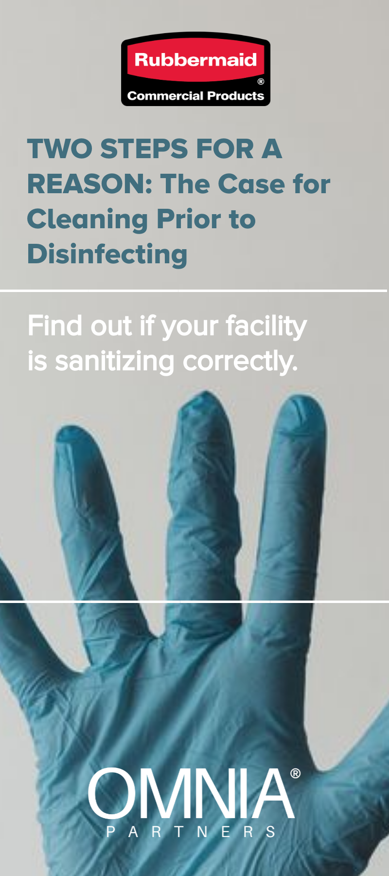 Learn why facilities should clean before disinfecting