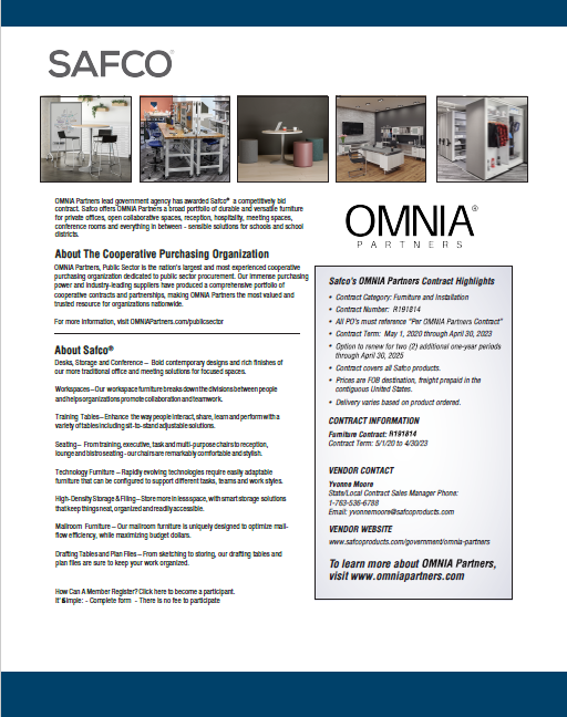 OMNIA Partners & Safco 2020 Flyer