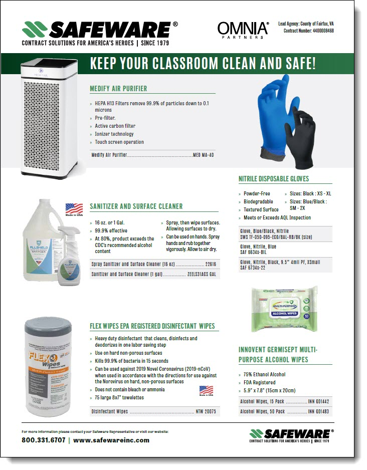 Safeware K-12 Classroom Safety Solutions