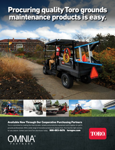 Procuring quality Toro grounds maintenance products is easy with OMNIA Partners
