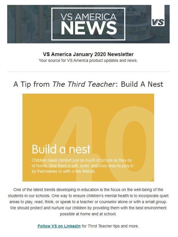 A Tip from The Third Teacher: Build A Nest VS America Newsletter