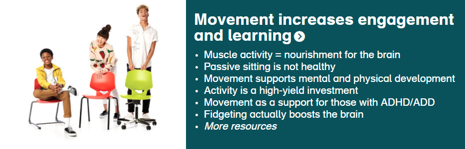 Movement increases engagement and learning